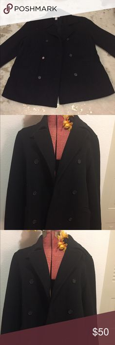 J CREW Men's Wool Double Breasted Pea Coat In excellent condition for the fashionable man! Study feel and quite warm...a J Crew classic through and through J. Crew Jackets & Coats Pea Coats
