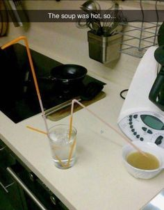 The person who needed their soup NOW. | 26 People Who Are Nailing This Whole Life Thing