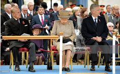 Prince Philip, Duke of Edinburgh, Queen Elizabeth II and King Philippe of Belgium attend the opening of the Flanders' Fields Memorial Garden on November 6, 2014 in London, England.