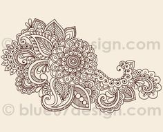 Paisley design that can be used as a henna design!