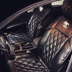 Not a big fan of the Chanel logo, but the seats and steering wheel are lovely!!!!