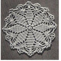 Lucky Star Crochet Runner Doily PDF Pattern, Vintage 1950s