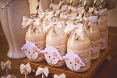 Drinks from a Little Lamb Baby Shower via Kara's Party Ideas | KarasPartyIdeas.com (11)