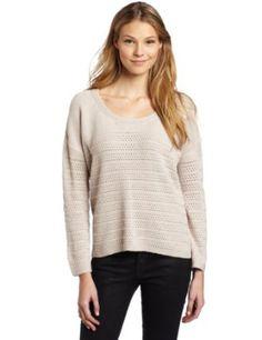 BCBGeneration Women's Novelty Stitch Boxy Pullover Sweater