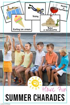 Have a little fun this summer outdoors or in with this fun charades game. Larn verbs, critical thinking  skills and social skills while having some family fun at home or in school. These are great for Classroom Brain Breaks, building community activities and more AND...they are only a #DOLLARDeals #summeractivitiesforkids #summerfamilyfun #charades #brainbreaks #Summerfun Community Building Activities, Summer School Activities, Charades Game, Summer Slide, Critical Thinking Skills, Brain Breaks, Educational Games, Social Skills, Kids Learning