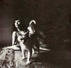 Kate Bush and cat. Nice image with the kittycat (with a periscope tail)! I Love Cats, Big Cats, Cool Cats, Cats And Kittens, Crazy Cat Lady, Crazy Cats, Celebrities With Cats, Celebs, She Wolf