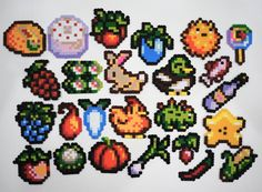 Tagged with gaming, fanart, perlerbeads, pixelart, stardewvalley; Shared by Made bead sprites of my favorite things from Stardew Valley Melty Bead Patterns, Pearler Bead Patterns, Perler Patterns, Beading Patterns, Diy Perler Beads, Perler Bead Art, Anime Pixel Art, Pix Art, Peler Beads