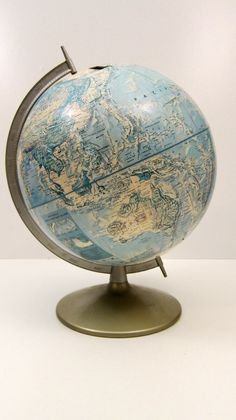 Rand McNally Globe vintage World Globe Classic Map Photo Prop - # Globe Art, Map Globe, Vintage Globe, Vintage Maps, World Globes, World Crafts, Compass, Photo Props, Antiques