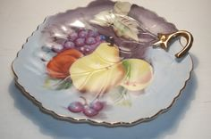 Lefton China Vintage Hand Painted Fruit Plate by Castawayacres
