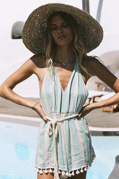 Alena Blohm wears Spell Designs Riviera Romper