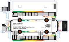Golden Gate Transit Orion V Blank paper model bus by R. Flores. DIY paper craft