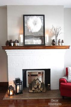 Love this fire place, just change out the oak or stain it into an espresso color
