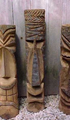 Hand Carved Hawaiian Polynesian Tiki Statues For Sale can find Statues and more on our website.Hand Carved Hawaiian Polynesian Tiki Statues For Sale Wood Carving Faces, Tree Carving, Wood Carving Patterns, Tiki Statues, Angel Statues, Tiki Head, Tiki Totem, Whittling Wood, Statues For Sale