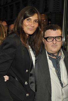 Emmanuelle Alt and Alber Elbaz at FNO