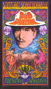 Bob Dilan rock poster by Bob Masse.