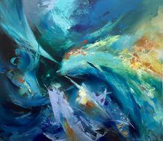 Pintura Hebert Sanchez, Contracorriente, óleo sobre lienzo