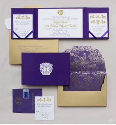 CeciStyle V110: A Day at the Frick:  Luxurious Regal Wedding - Be inspired by Taylor & Thomas's luxurious, regal wedding - wedding, invitations, foil printing, die-cutting, hand-drawn, letterpress printing