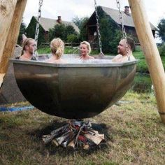 Anyone fancy a jacuzzi ? or maybe some soup?!!  #camping #soup #jacuzzi
