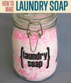 Want to know how to make homemade laundry detergent? Make the best DIY laundry soap with our instructions. Mix your own in minutes with simple ingredients.