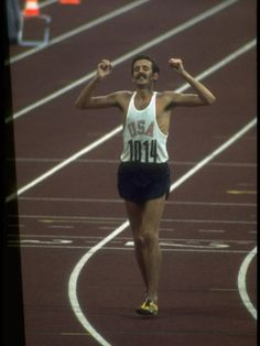 US Athlete Frank Shorter after Winning a Marathon Race at the Summer Olympics by John Dominis