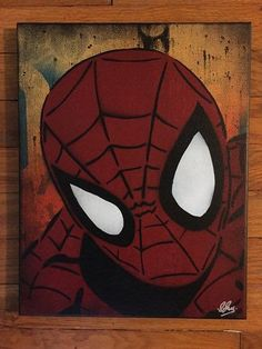 Spiderman canvas by Chris Cleveland Studios