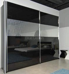 Give a contemporary look to your #bedroom with modern front design on 3 doors slider #wardrobe.
