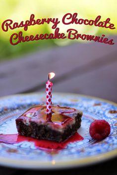 Rya Pie: Raspberry Chocolate Cheesecake Brownies
