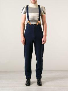 Jean Paul Gaultier Vintage pantalon taille haute à bretelles
