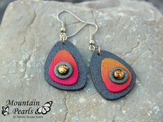https://flic.kr/p/Ax4jvB | Polymer clay earrings | www.facebook.com/mountain.pearls