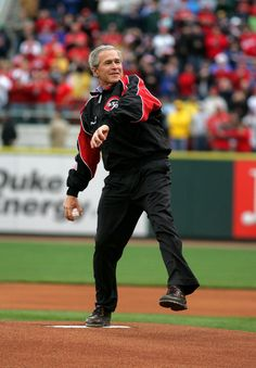 George W. Bush, Cincinnati Reds 2006 Opening Day:)