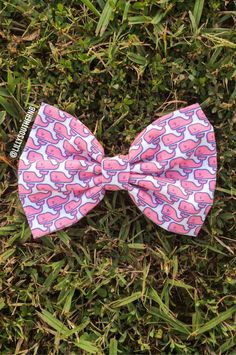 Vineyard+Vines+Inspired+Fabric+Hair+Bow++by+LillySouthern+on+Etsy