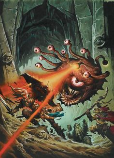 The 10 Most Memorable Dungeons & Dragons Monsters - Beholder monster beast creature animal | Create your own roleplaying game material w/ RPG Bard: www.rpgbard.com | Writing inspiration for Dungeons and Dragons DND D&D Pathfinder PFRPG Warhammer 40k Star Wars Shadowrun Call of Cthulhu Lord of the Rings LoTR + d20 fantasy science fiction scifi horror design | Not Trusty Sword art: click artwork for source