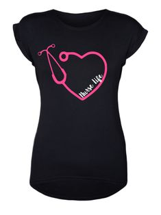 All designs can be changed to long sleeve tee, short sleeve shirt, sweatshirt tumbler + more! Just shoot me a message and we can create your own listing. Take a look at the photos to see what garments Rn Nurse, Nurse Life, Nursing Accessories, Becoming A Nurse, College Shirts, Nursing Supplies, Nurses Week, Vinyl Shirts, Nursing Students