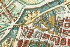 Old Paris, Cartography, Marie Antoinette, Palaces, Middle Ages, Bridges, Collages, Claire, Temple