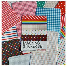 Masking Sticker Set - Adesivos Fofos - Vou comprar