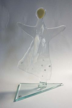 Fused glass - angel with stars