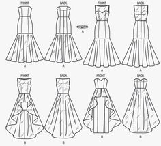 ... Mermaid Gown Pattern, Prom Dress. ◅