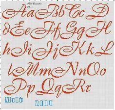 A1 Cross Stitch Alphabet Patterns, Cross Stitch Letters, Cross Stitch Borders, Cross Stitch Baby, Cross Stitch Designs, Cross Stitching, Blackwork Embroidery, Embroidery Fonts, Cross Stitch Embroidery