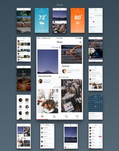 Huge high quality iOS UI pack A huge modern & useful mobile UI kit, carefully assembled for Sketch to make your workflow efficient with maximum productivity. Each component in this . Web Design Mobile, App Ui Design, Interface Design, User Interface, Ui Kit, Clean Web Design, Flat Design, Design Design, Design Trends
