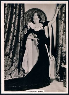 """British American Tobacco Co  """"Modern Beauties Fifth Series""""  issued in 1938 #28 Adrienne Ames ~ in """"Abdul the Damned"""" ~ Associated British Picture Corporation"""
