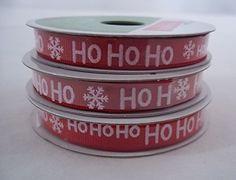 Christmas Ho Ho Ho Grosgrain Ribbon (3 Pack) Celebrate It http://www.amazon.com/dp/B014V1VTAI/ref=cm_sw_r_pi_dp_sBV.vb0EGQTHH