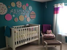 I'm in love with the bright colors! #nursery #DIY