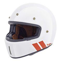 Helmets : Nexx XG100 Bolt Helmet - White Full - The Cafe Racer