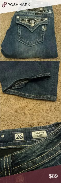 Miss Me 👖Size 26. Excellent condition and bling! Inseam is 32. Miss Me Jeans Boot Cut