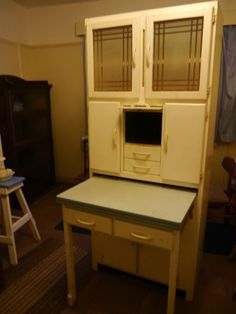 vintage kitchen larder/ cabinet 1950 with pull out work table and cool keeper | eBay