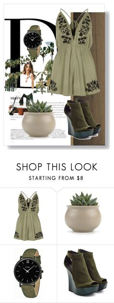 """""""Green"""" by helena-cy ❤ liked on Polyvore featuring BoConcept, River Island, CLUSE and Balmain"""
