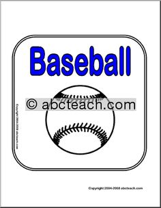 """Baseball Theme Unit 