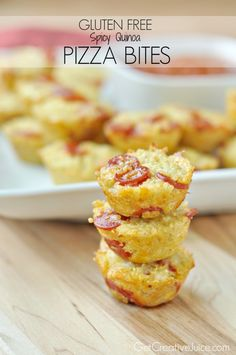 Quinoa Gluten Free Pizza Bites Recipe - easy recipe even non gluten free family members will love!