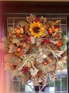 2015 Thanksgiving mesh wreath to decor you house - Fashion Blog