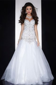 2014 Sweetheart Prom Dress Mermaid Low Back Embellished Bodice With Rhinestone And Beads Pick Up Tulle Skirt